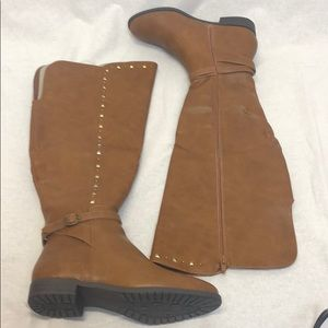 RIALTO Shoes Ferrell Women's Boot, Cognac/Smooth